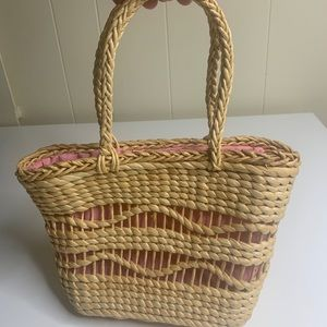 Vintage Natural Grass Straw Woven Small Purse Bag